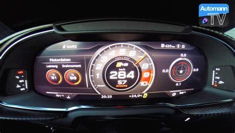 audi r8 v10 0 60 2017 audi r8 v10 plus 610hp 0 290 km h acceleration