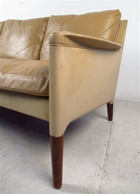 Danish Modern Leather Sofa For Sale At 1stdibs Modern Leather Sofa Sale