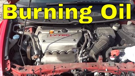honda civic  burning  lot  oil  engine youtube