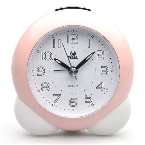 deedo sweep travel clocks bedside battery operated analog alarm pink ebay