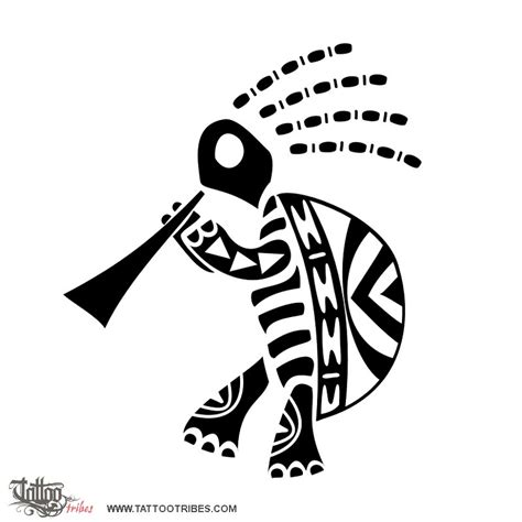 tribal kokopelli tattoo designs of kokopelli turtle fertility