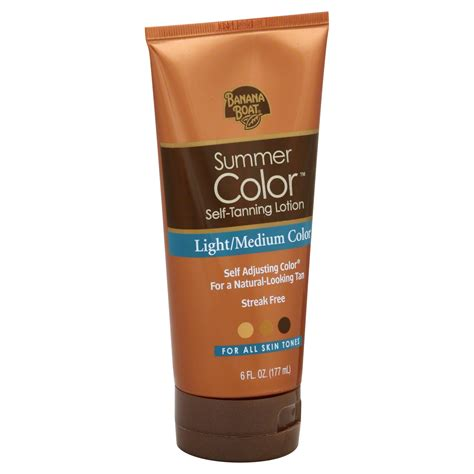 banana boat summer color banana boat summer color self tanning lotion light medium