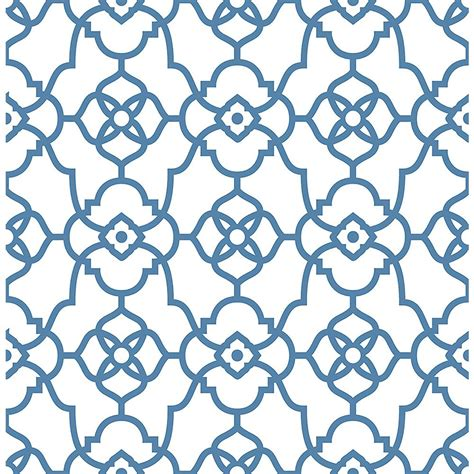 wallpaper blue trellis nuwallpaper navy grand trellis peel and stick wallpaper