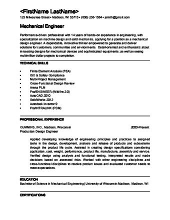Resume Templates For Design Engineer how to become a mechanical engineer 15 steps with pictures
