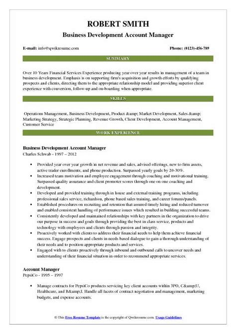 Account Development Manager Sle Resume by Account Development Manager Resume Sles Qwikresume