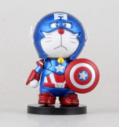 Doraemon Captain America 1 doraemon cos captain america