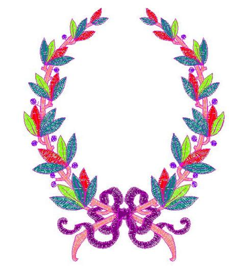 free embroidery templates laurel wreath embroidery designs free machine embroidery