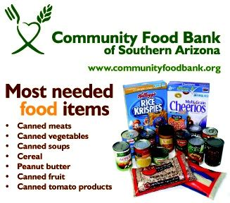 Cache Community Food Pantry by Most Need Food Items Infographics