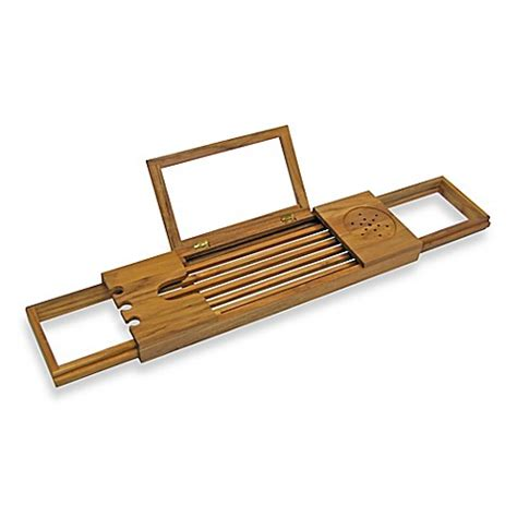 bathtub caddy tray buy teak bathtub tray caddy from bed bath beyond