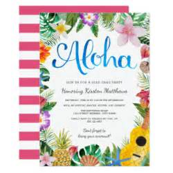 luau invitations announcements zazzle