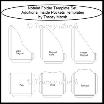 cards and pockets free templates notelet folder template set additional inside pockets