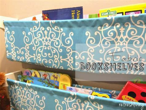 diy fabric bookshelves refresh living