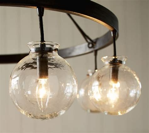 Pottery Barn Chandeliers Barrett Glass Globe Chandelier Pottery Barn
