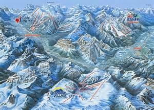 banff piste maps and ski resort map powderbeds