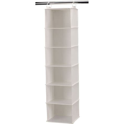 household essentials 6 shelf hanging closet organizer with
