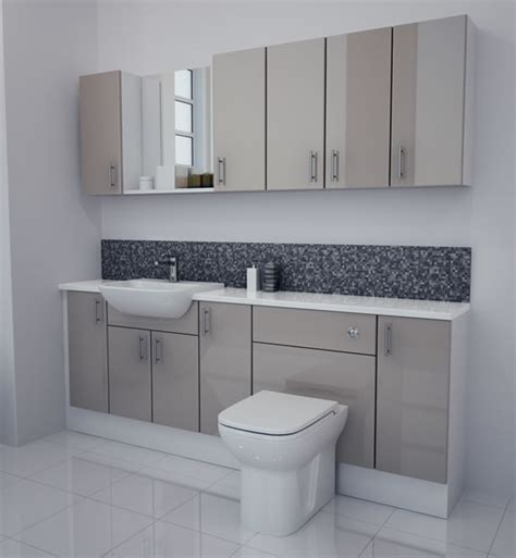 Fitted Bathroom Furniture Units Bathcabz Bathroom Fitted Furniture Products Fitted Furniture 2100mm Latte Gloss