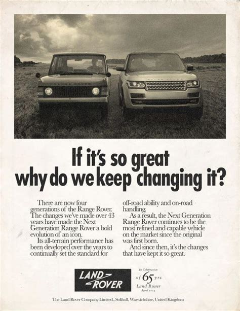 vintage land rover ad land rover celebrates 65th anniversary with retro