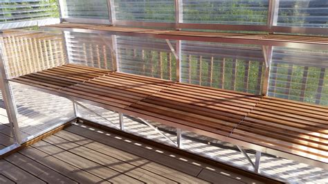 benches greenhouse diy greenhouse archives the gardener cedar benches and shelves clipgoo