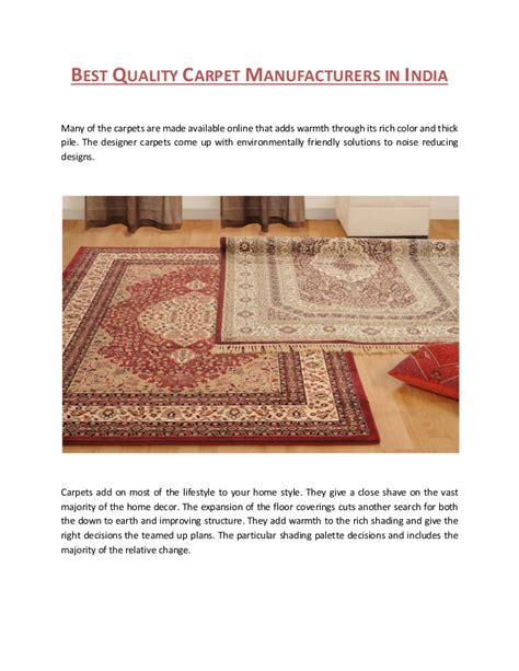 best rug brands best quality carpet manufacturers in india