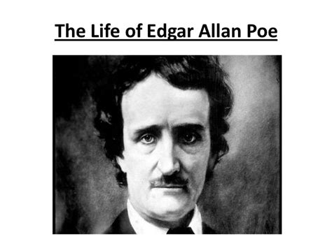edgar allan poe biography project the life of edgar allan poe
