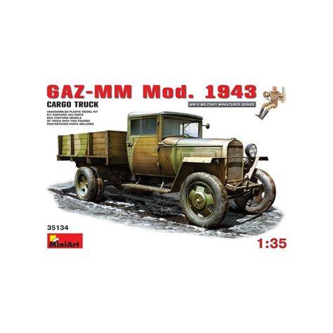 Miniart 35134 Gaz Mm Mod 1943 gaz mm mod 1943 cargo truck miniart 35134 1 35 232 me maquette char promo