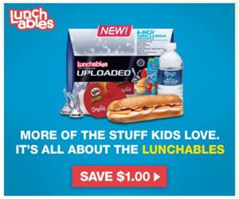 Lunchables Sweepstakes - 1 off new lunchables uploaded