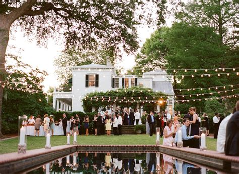 Backyard Wedding Celebration Backyard Wedding With String Lights Em For Marvelous