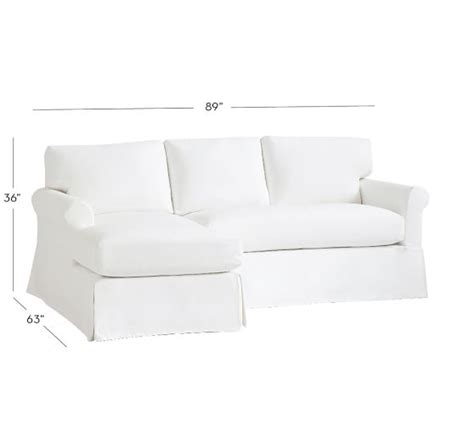 york roll arm slipcovered sofa york roll arm slipcovered sofa with chaise sectional