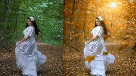 tutorial edit photo wedding photoshop autumn color effect photoshop tutorial soft light look