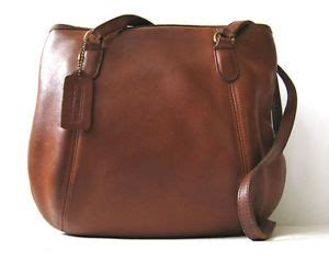 Handmade Leather Handbags Made In Usa - vintage coach brown leather framed handbag purse