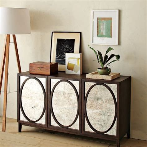 foxed mirror buffet west elm console tables