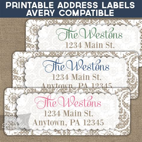 avery free printable address labels printable address labels white lace avery compatible