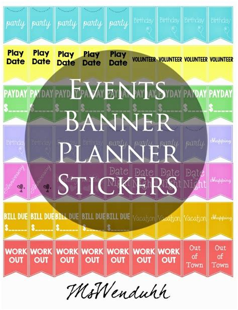 printable event stickers 30 day fitness challenge stickers for your planner wendaful