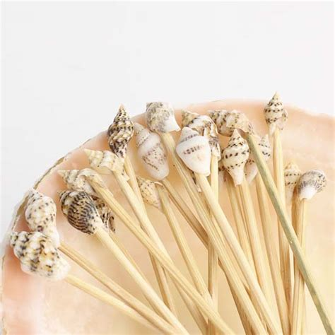 shell toothpicks and shell holder wedding