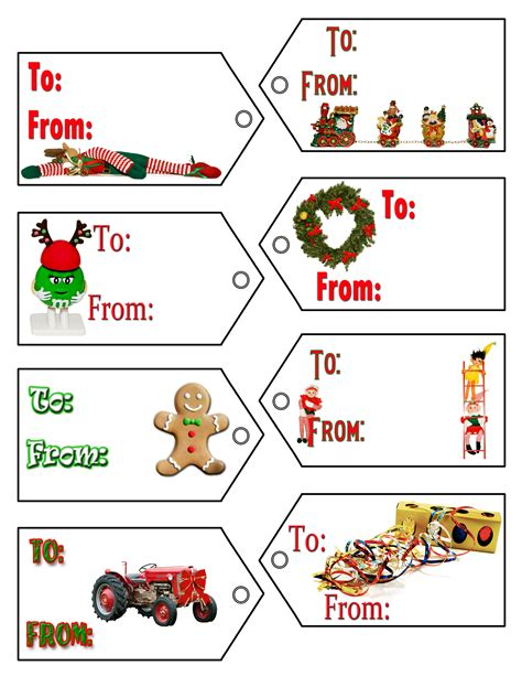 Free Label Templates Christmas