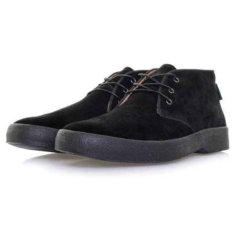 bass stanford mid suede black boot