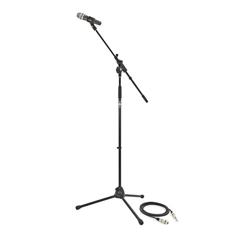 microphone vocal avec perche stand et c 226 ble 224 gear4music