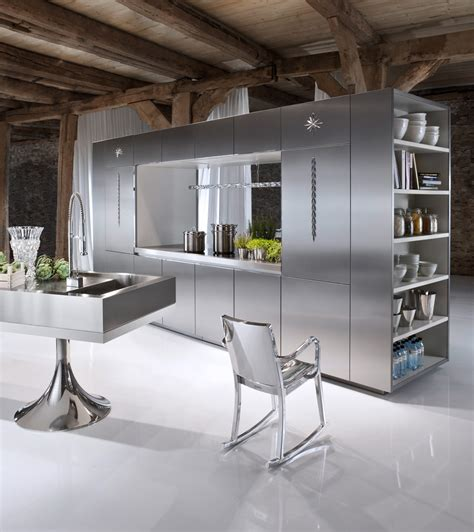 Philippe Starck Designs Kitchens For Warendorf Stainless Steel Kitchen Designs
