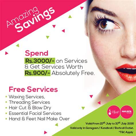 salon offers monsoon savings amazing salon offers at synk salon