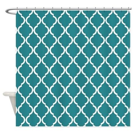teal bathroom curtains teal moroccan lattice shower curtain by cierraspatterndecorandgifts