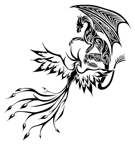 mythical dragon tattoo designs stencils silhouettes stencils tribal design