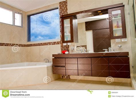 hot house interiors interior of bathroom in modern house hot tub stock image image 26859281