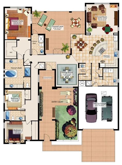 Closet Of Guilt And Pleasure by Floor Plan The Entry Court And Covered Lanai Sims