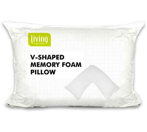 Shaped Pillow Shopping by Buy Home V Shaped Memory Foam Pillow At Argos Co Uk Your