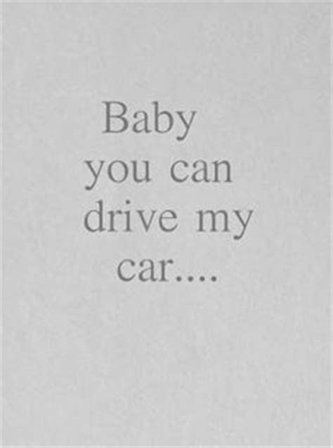 drive my car lyrics in my life lyrics quote by the beatles typography