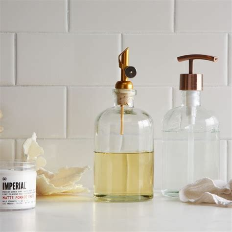 Soap Dispensers For Bathrooms Copper Top Pour Soap Dispenser Modern Bathroom Accessories By West Elm