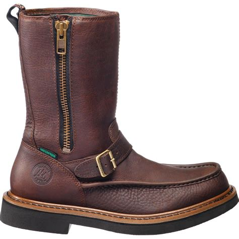 mens zipped wellington boots mens side zip wellington waterproof work boots ebay