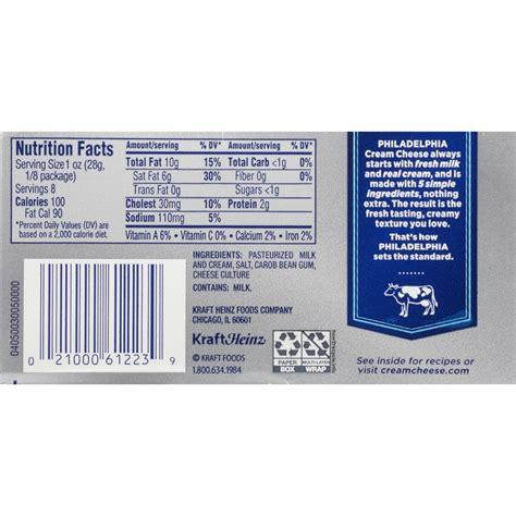 calories in light cream cheese kraft philadelphia light cream cheese nutrition