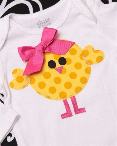 t shirt onesie pattern boutique spring baby chick easter applique tee shirt or onesie