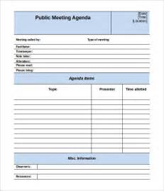 meetings template meeting agenda template 46 free word pdf documents